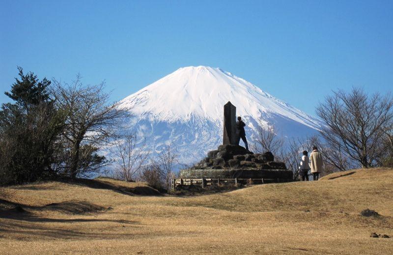 足柄峠から見た富士山