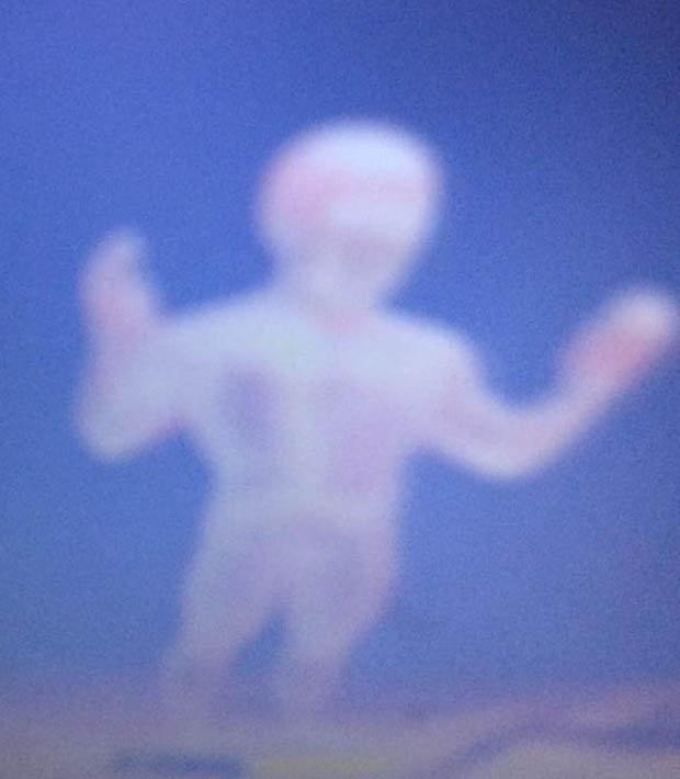 人の形の雲
